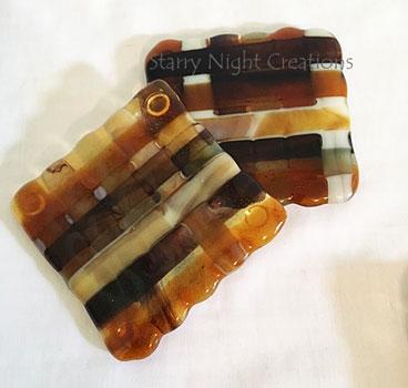 Amber Weave Coasters