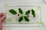 Holiday Holly, Plate (Custom Order Only)