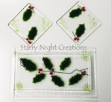 Holiday Holly Coasters (Custom Order Only)