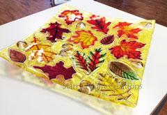 Fall Leaves & Acorns, Plate