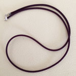 "Rubber Necklace, 18"", Plum w/Sterling Silver Lobster Clasp"