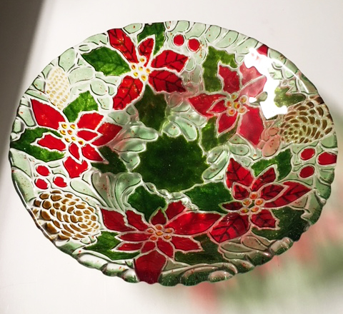 Poinsettia Bowl-Custom Order... Contact Me by Dec 1, 2018.