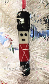 Toy Soldier Glass Ornament
